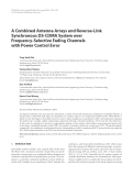 "Báo cáo hóa học: ""A Combined Antenna Arrays and Reverse-Link Synchronous DS-CDMA System over Frequency-Selective Fading Channels with Power Control Error"""