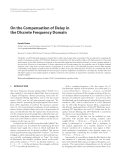 "Báo cáo hóa học: "" On the Compensation of Delay in the Discrete Frequency Domain"""