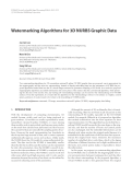 "Báo cáo hóa học: "" Watermarking Algorithms for 3D NURBS Graphic Data"""