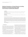 "Báo cáo hóa học: ""Multirate Simulations of String Vibrations Including Nonlinear Fret-String Interactions Using the Functional Transformation Method"""