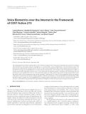 """Báo cáo hóa học: """" Voice Biometrics over the Internet in the Framework of COST Action 275"""""""