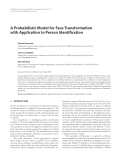 "Báo cáo hóa học: ""A Probabilistic Model for Face Transformation with Application to Person Identification"""