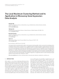 """Báo cáo hóa học: """" The Local Maximum Clustering Method and Its Application in Microarray Gene Expression Data Analysis"""""""