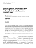 """Báo cáo hóa học: """"  Maximum Likelihood Turbo Iterative Channel Estimation for Space-Time Coded Systems and Its Application to Radio Transmission in Subway Tunnels"""""""