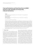 "Báo cáo hóa học: ""  Channel Estimation and Data Detection for MIMO Systems under Spatially and Temporally Colored Interference"""