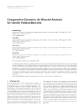 "Báo cáo hóa học: "" Comparative Genomics via Wavelet Analysis for Closely Related Bacteria"""