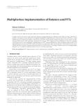 "Báo cáo hóa học: ""  Multiplierless Implementation of Rotators and FFTs"""