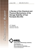 A Review of the Chemical and Physical Mechanisms of the Storage Stability of Fast Pyrolysis Bio-Oils