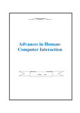 Advances in Human-Computer Interaction