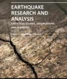 EARTHQUAKE RESEARCH AND ANALYSIS – STATISTICAL STUDIES, OBSERVATIONS AND PLANNINGE
