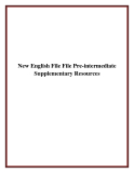 New English File File Pre-intermediate Supplementary Resources