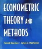 Econometric theory and methods, Russell Davidson