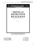 WRITING AN EFFECTIVE BUSINESS