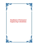 Handbook of Mechanical Engineering Calculations
