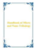 Handbook of Micro and Nano Tribology