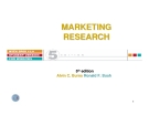 MARKETING RESEARCH RESEARCH
