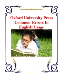 Oxford University Press Common Errors In English Usage