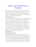 Chapter 012. Pain: Pathophysiology and Management