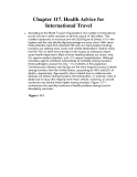 Chapter 117. Health Advice for International Travel