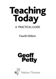 Teaching Today A Practical Guide Fourth Edition
