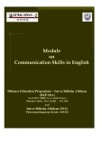 Module on Communication Skills in English