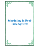 Scheduling in RealTime Systems