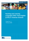 Teaching and Learning Languages Other Than English (LOTE) in Victorian Schools