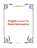 English Access To Hindi Information