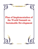 Plan of Implementation of the World Summit on Sustainable Development
