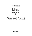 Master The TOEFL Writing Skills