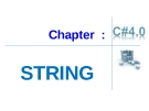 Chapter  :  STRING