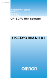CP1E CPU Unit Software - USER'S MANUAL