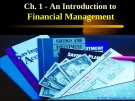 Financial Management - Chapter 1