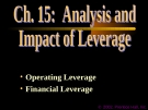 Financial Management - Chapter 15