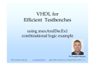 VHDL for Efficient Testbenches