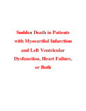 Sudden Death in Patients with Myocardial Infarction and Left Ventricular Dysfunction, Heart Failure, or Both
