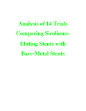 Analysis of 14 Trials Comparing Sirolimus Eluting Stents with Bare-Metal Stents