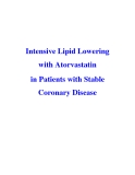 Intensive Lipid Lowering with Atorvastatin in Patients with Stable Coronary Disease