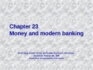 Chapter: Money and modern banking