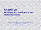 Chapter: Monetary and fiscal policy in a closed economy