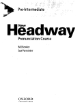 New Headway Pronunciation Course Bill Bowler Sue Parminter