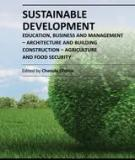 SUSTAINABLE DEVELOPMENT – EDUCATION, BUSINESS AND MANAGEMENT – ARCHITECTURE AND BUILDING CONSTRUCTION – AGRICULTURE AND FOOD SECURITY