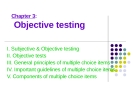 Chapter 3: Objective testing