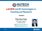 LabVIEW and NI Technologies in Teaching and Research