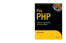 Pro PHP Patterns, Frameworks, Testing and More