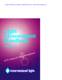 Light Measurement Instruments Catalog