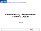 Precision Analog Designs Demand Good PCB Layouts