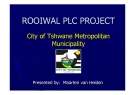 ROOIWAL PLC PROJECROOIWAL PLC PROJECT