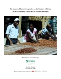 The Impacts of Farmer Cooperatives on the Standard of Living Of Cocoa Producing Villages in Côte d'Ivoire and Ghana