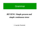 Grammar review : simple present and simple continuos tense